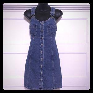 AE Vintage denim overalls dress